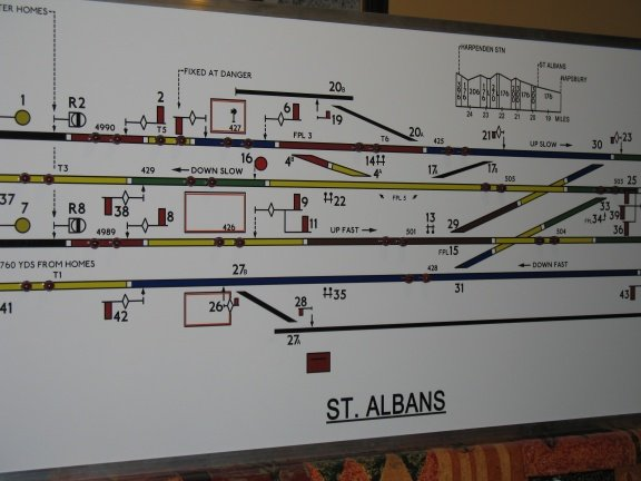 Track diagram with 44 lights